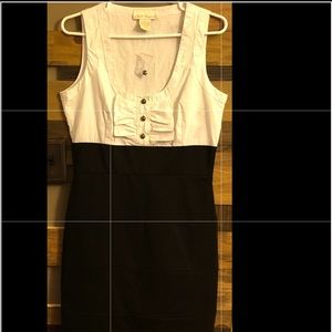 BB Dakota black/ white body on dress with ruffles